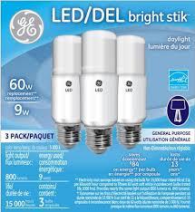 oule d éclairage bright stik de ge lighting de 9 w lumière