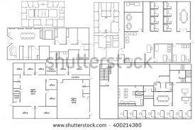 fice Floor Plan Stock Vector Shutterstock