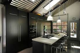 Kitchen Room2018 Trends 205 Black Island With White Granite Modern Cabinet