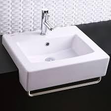 bathroom sinks boxe semi countertop sink white minimum counter