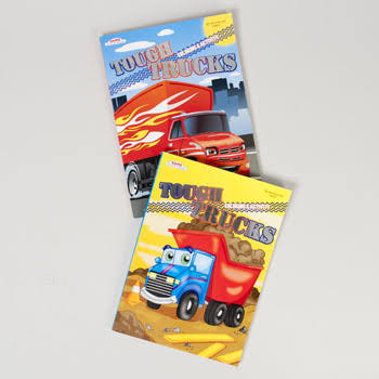 Tough Trucks Foil & Embossed Coloring & Activity Book