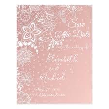 Elegant lace and confetti wedding artwork postcard