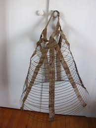 antique wire skirt dress hoop bustle cage crinoline geo a hubbell