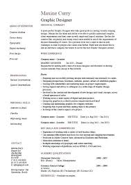 Sample Resume Graphic Designer Design Student