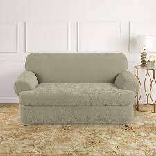 Sure Fit Stretch T Cushion Sofa Slipcover by Damask Sofa Slipcover Perfect Quickcover Damask Embossed Stretch