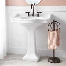 Half Bathroom Ideas With Pedestal Sink by Cierra Large Porcelain Pedestal Sink Pedestal Sink Guest Bath