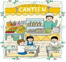 school canteen clipart black and white 4