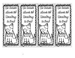 Fun Bookmark Coloring Pages