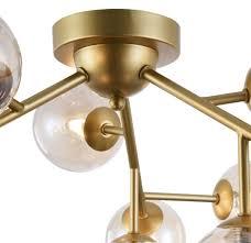 casa padrino wohnzimmer deckenleuchte gold bernsteinfarben ø 60 x h 20 cm deckenle mit kugelförmigen lenschirmen
