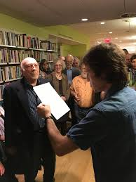 The Poet Jon Curley Co Editor With Burt Kimmelman OfThe Poetry And Poetics Of Michael Heller A Nomad Memory At Poets House In NYC On May 13 2017
