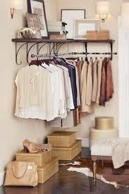 Bedroom Storage Hack Install A Clothes Rack In An Empty Corner
