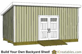 12x20 lean to shed plans build a large lean to shed