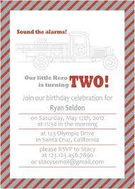 Fire Truck Birthday Invitation Wording Fireman Party Invitations ...