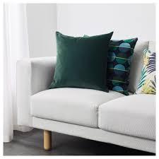 Sanela Curtains Dark Turquoise by Sanela Cushion Cover Dark Green 50x50 Cm Ikea