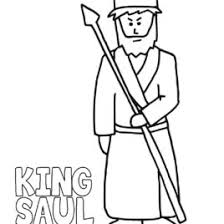 New King Saul Coloring Page 79 With Additional For Kids