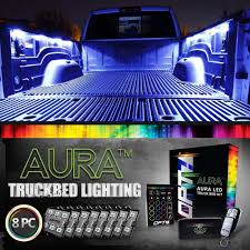 AURA LED Truck Bed Pod Lighting Kit - Multi-Color With Remotes - OPT7 12v24v Round 95mm Led Trailer Truck Lights Stop Turn Car Rear Led 18w Spotlight Bar Mount Off Road Light Ora Night Runner Hightech Lighting Rigid Industries Adapt Recoil Good For Trucks Ideas All About House Design Set Of 2 Tail 24v 6 Functions For Man Tga Tgl Automotive Household Rv Bulbs Stealth Truxedo Blight System Beds Hardwired 4 Inch Amber Buy Lightled 48w Square Work Spot Aseries Rock Kit Red 400263