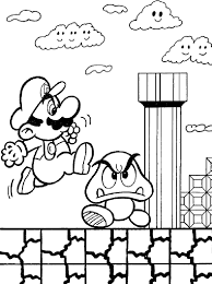 Small Dragon Mario Coloring Pages