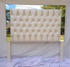 Diamond Tufted Headboard With Crystal Buttons by White Faux Leather Tufted Headboard Upholstered Headboard With