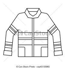 Fireman jacket icon outline style Fireman jacket icon clip