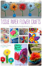 Awesome Tissue Paper Flower Arts And Crafts Projects For Kids
