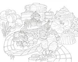 Candyland Coloring Sheet By Lidia Mulierchile