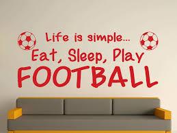 Wall Fanciful Football Art With Bold Inspiration Stickers Decor Canvas Uk Amazon Pretty Design