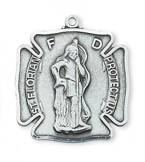 Saint Florian Fire Fighters Medal in Sterling Silver L413