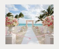 Swoon Worthy Pink And Gold Beach Wedding Ceremony