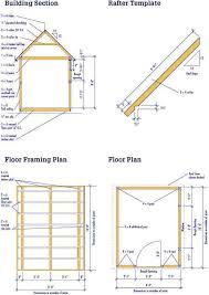 12 X 24 Gable Shed Plans by Shed Plans Vipshed Plans Vip
