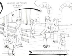 Jesus In The Temple As A Boy Coloring Sheet