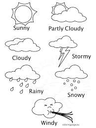 Weather Coloring Sheets Printables