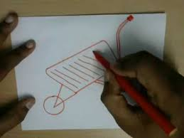 How to Draw a Wheelbarrow Easy step by step drawing for kids