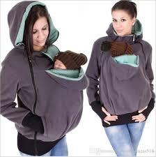 2018 Maternity Warm Hoodie Kangaroo Sweater With Baby Carriers