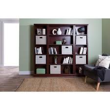 South Shore Morgan Storage Cabinet by South Shore Morgan Royal Cherry Open Bookcase 10150 The Home Depot