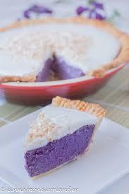 purple sweet potato pie with coconut topping haupia