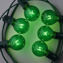 replacement green 7 watt incandescent g40 globe light bulbs e12
