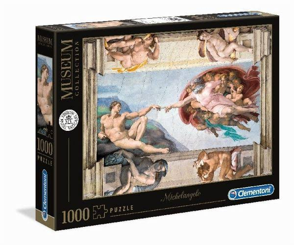 Clementoni Michelangelo - The Creation of Man - 1000pc Jigsaw Puzzle