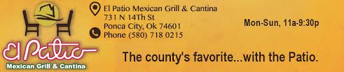 El Patio Ponca City Menu by Best Of Northern Oklahoma Voting