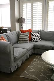Gray Sofa Slipcover Walmart by Furniture Minimize Amount Of Fabric You Need To Tuck With