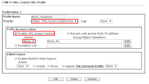 Create a DNS Profile at CSM DNS Filter on a Profile number in DNS Filter Profile Table