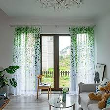 feiliandajj 200x100cm vorhänge voile transparent gardinen blätter sommer cool atmungsaktiv waschbar gardinenschals wohnzimmer kinderzimmer
