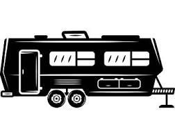 Camper 1 Motorhome Recreational Vehicle RV Camping Camp Campsite Trailer Transportation Vacation Logo SVG EPS Vector Cricut Cut Cutting