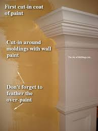 Painting Walls Around Moldings