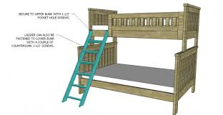 fabulous twin over full bunk bed plans with diy bunk bed plans diy
