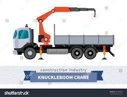 Knuckleboom Crane Truck Side View Mobile Stock Vector (Royalty Free ...