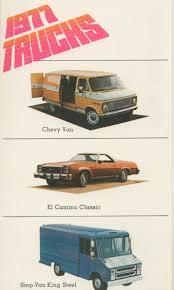 100 El Camino Truck 1977 Chevrolet Chevy Van Step Van Factory Postcard