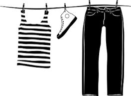 stickers fil a linge sticker corde à linge vêtements tenstickers