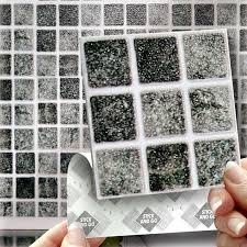 Smart Tiles Peel And Stick Australia by 18 Granite Mosaic Effect Wall Tiles 2mm Thick And Solid Self