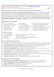 Hr Administration Resume Sample | Templates At ...