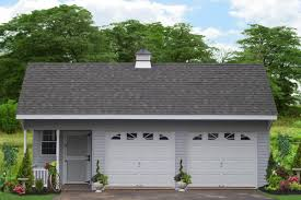 quick build detached two car garages from the amish